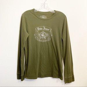 Ralph Lauren Polo Jeans Green Long Sleeved Shirt L